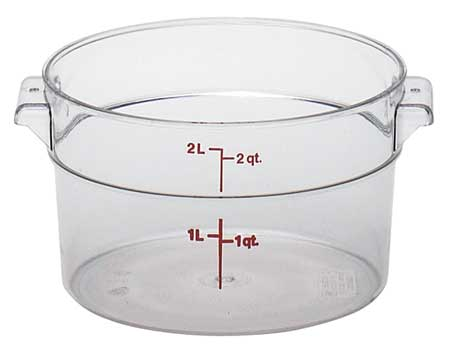 Round Contain., Use Lid 4UKA9, PK12