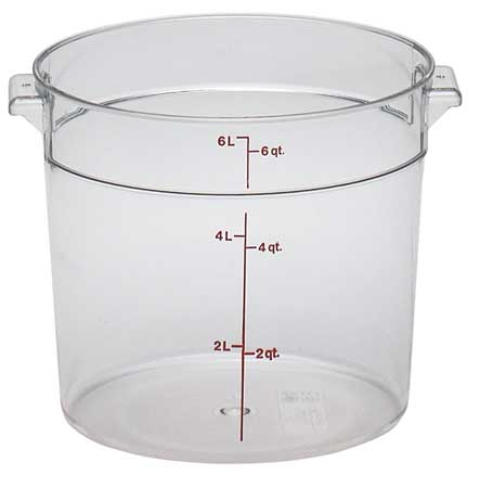 Round Contain.,  Use Lid 4UKC1,  PK12