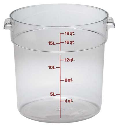 Round Contain., Use Lid 4UKC2, PK6