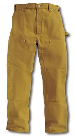 Double Front Work Pants, Brown, Size 38x34