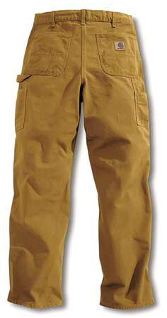 Work Pants, Washed Brown, Size42x34 In