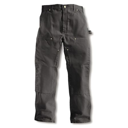 Double Front Work Pants, Black, Size 34x36