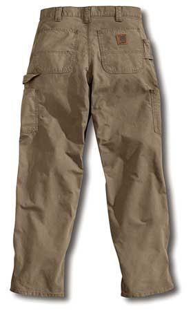 Canvas Work Pants, Light Brown, Size40x32