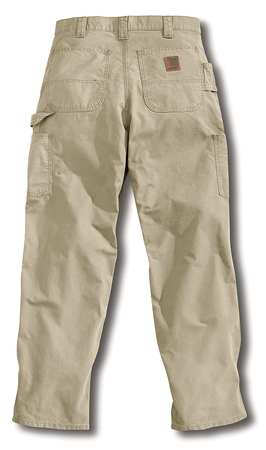 Canvas Work Pants, Tan, Size 34x32 In