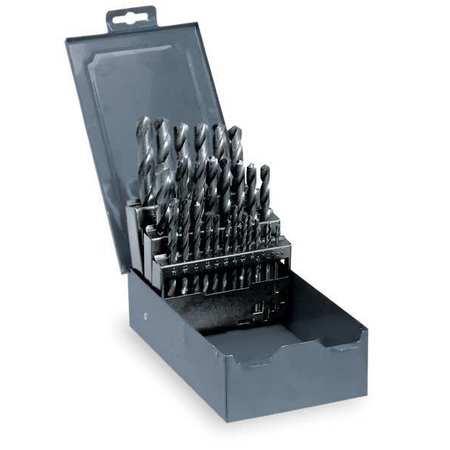 Jobber Drill Set, 3/8 Shank, 29 PC, HSS