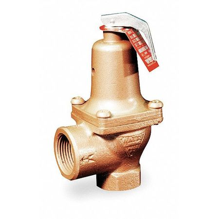 Safety Relief Valve, 1 In, 75 psi, Bronze