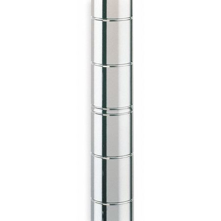 Shelf Post, 74-5/8 in. H, Steel, Silver, PK4