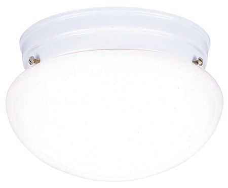 Light Fixture, White, Wh Glass Lens