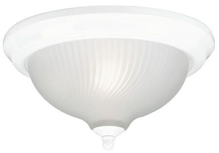 Light Fixture, White, Frosted Swirl Lens