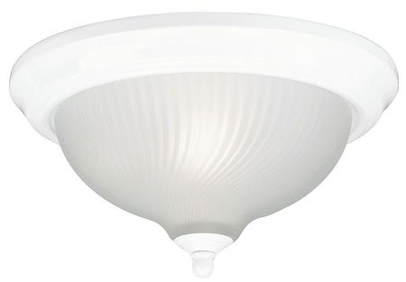 Light Fixture, White, Frosted Swirl, 120W