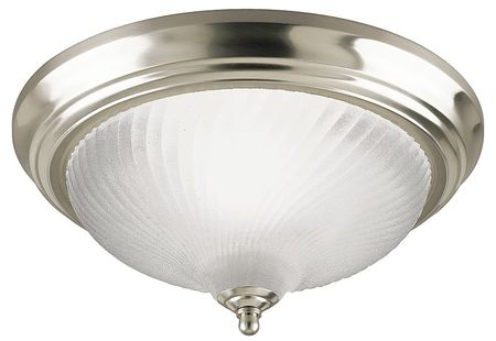 Light Fixture, Brush Ni, Frosted Swirl