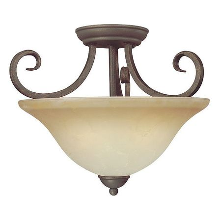 Light Fixture, Ebony Bronze, Alabaster