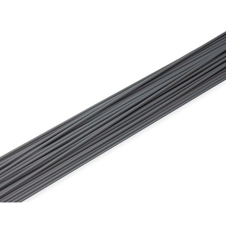 Welding Rod, PVC, 5/32 In Dia, Gray, PK23