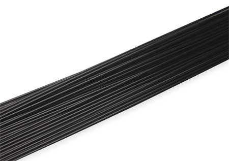 Welding Rod, Copolymer, 3/16 In, Black, PK25
