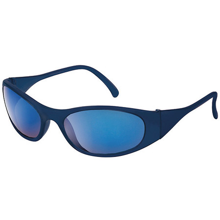 Condor Blue Mirror Safety Glasses,  Scratch-Resistant,  Wraparound