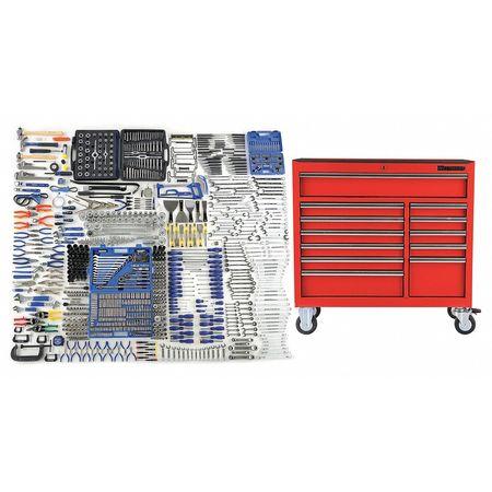 Master Technicians Set, W/Cart, 1076 Pc