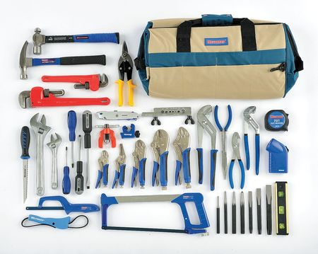 Plumbers Tool Set, SAE, 39 Pc
