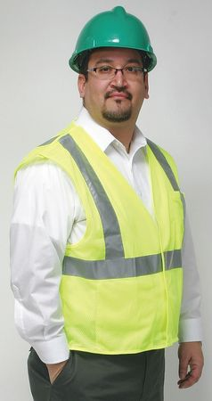 3XL Flame Resistant Tear Away Vest,  Lime