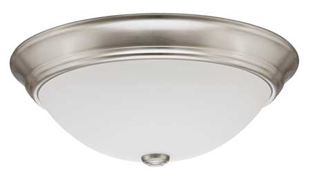 Light Fixture, 55W, 120V, Brushed Nickel
