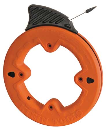 Marked Fish Tape, 1/4 In x 25 ft, Steel