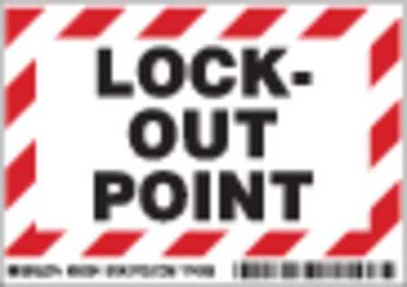 Lockout Label, 3-1/2 In. H, 5 In. W, PK5
