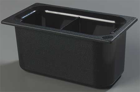 Third Size Food Pan, 3.4 Qt Cap,  Black