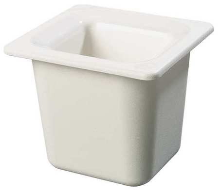 Sixth Size Food Pan,  1.6 Qt Cap,  White