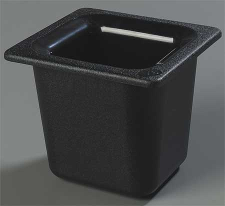 Sixth Size Food Pan,  1.6 Qt Cap,  Black