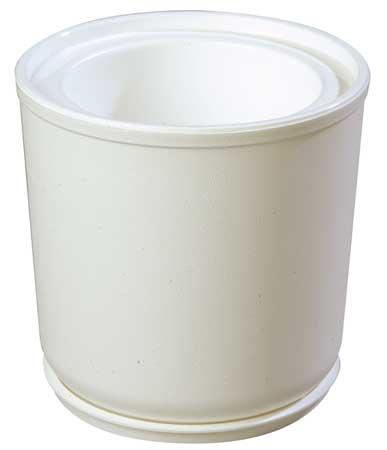 Food Crock,  2 Qt Cap, White, Incl. Coaster