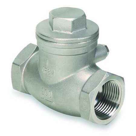 "1-1/4"" NPT Stainless Steel Swing Check Valve"