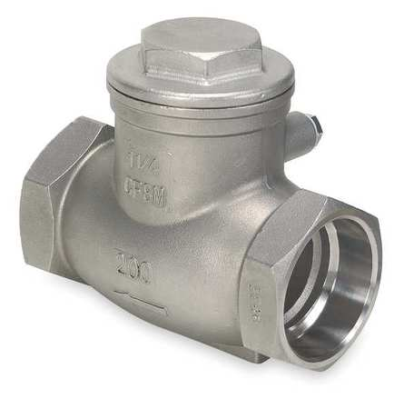 Swing Check Valve, 316 SS, 1/2 In., Solder