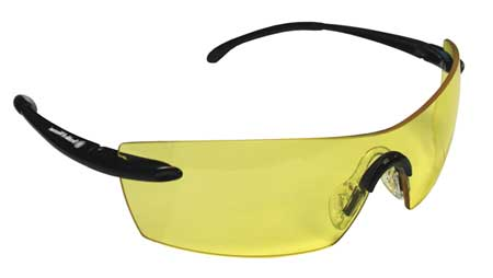 Jackson Amber Safety Glasses,  Anti-Fog,  Scratch-Resistant,  Frameless