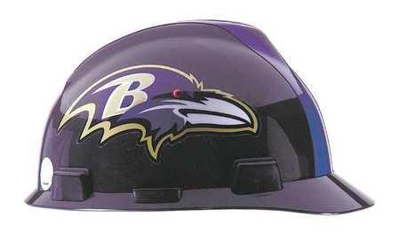 NFL V-Gard Hard Hat, Baltimore Ravens, Blk/Purple