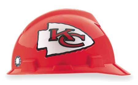 NFL V-Gard Hard Hat,  Kansas City Chiefs,  Red/White