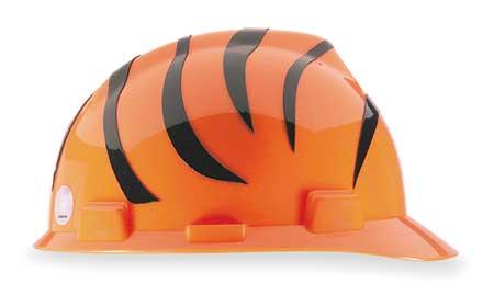 NFL V-Gard Hard Hat,  Cincinnati Bengals,  Black/Orange