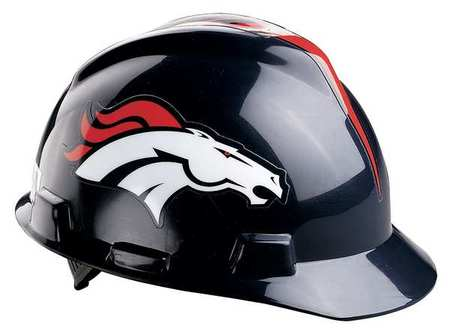 NFL V-Gard Hard Hat, Denver Broncos, Blue/Orange