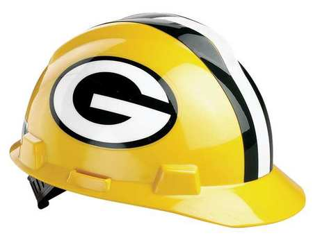 NFL V-Gard Hard Hat, Green Bay Packers, Grn/Ylw