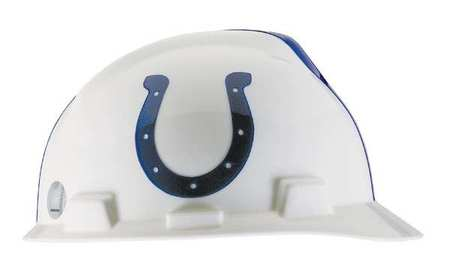 NFL V-Gard Hard Hat,  Indianapolis Colts,  White/Blue