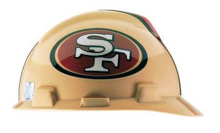 NFL Hard Hat, SanFrancisco 49ers, Gold/Red