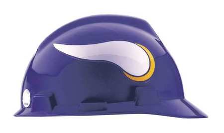 NFL V-Gard Hard Hat,  Minnesota Vikings,  Purple/White