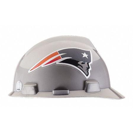 NFL V-Gard Hard Hat,  New England Patriots,  Gray/Blue