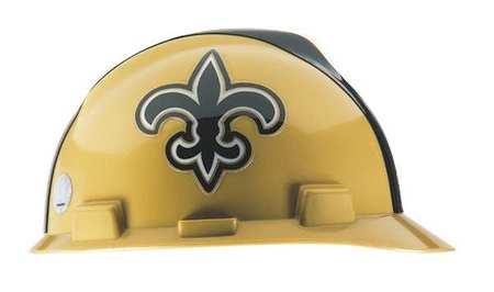 NFL V-Gard Hard Hat, New Orleans Saints, Gold/Blk