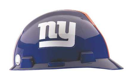 NFL V-Gard Hard Hat, New York Giants, Blue/White