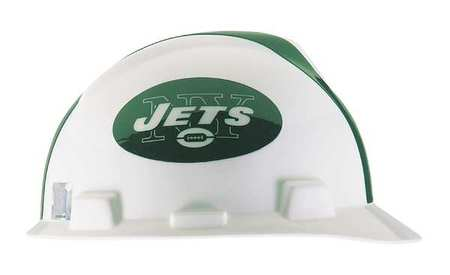 NFL V-Gard Hard Hat, New York Jets, Green/White