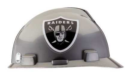 NFL Hard Hat, Oakland Raiders, Gray/Black