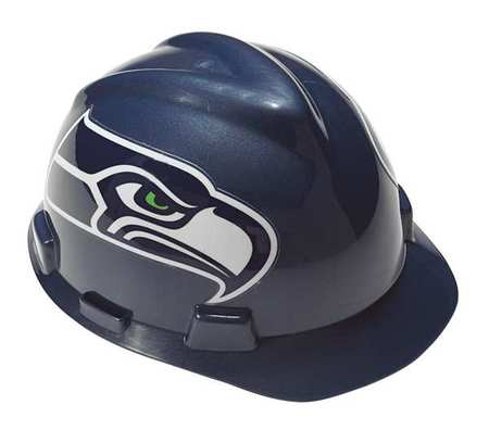 NFL V-Gard Hard Hat,  Seattle Seahawks,  Silver/Blue