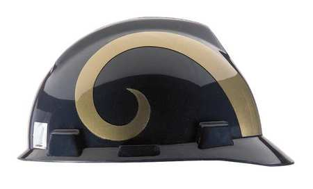 NFL V-Gard Hard Hat,  LA Rams,  Gold/Blue
