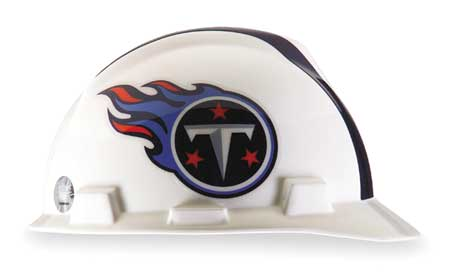 NFL V-Gard Hard Hat, Tennessee Titans, White/Blue