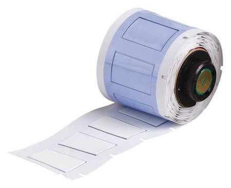 """1-1/64"""" x 41/64"""" White Polyolefin Wire Marker Sleeves"""