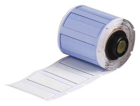 """1-49/64"""" x 41/64"""" White Polyolefin Wire Marker Sleeves"""